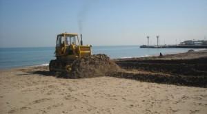 Riccione, Lavori in Spiaggia